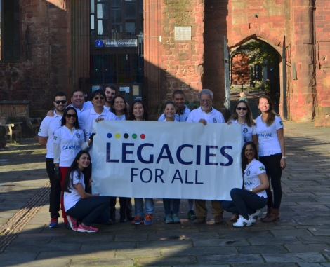 Professor Leonardo Mataruna meets Legacies For All Brazilian NGO  at Coventry Cathedral.