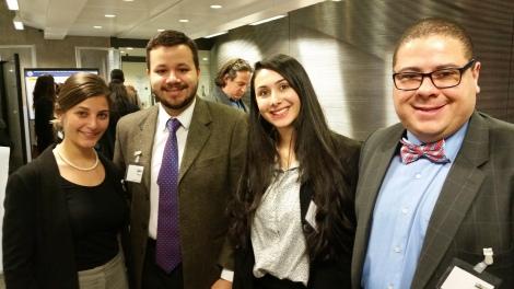 Débora Guerra, Thiago Melo, Adressa Guimarães and Dr Leonardo Mataruna in the ABEP Conference